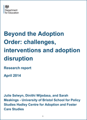Beyond the Adoption Order: challenges, interventions and adoption