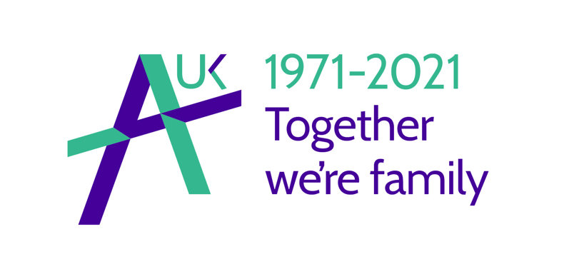 Adoption UK 50 Years logo